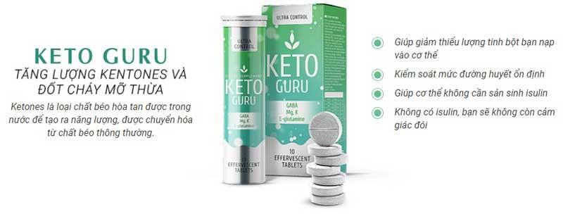 Công dụng viên Keto Guru giảm cân